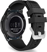 MoKo Samsung Gear S3 Frontier/Galaxy Watch 46mm / Classic/Moto 360 2nd Gen 46mm Correa - Watch Band Deportiva de Silicona Suave Reemplazo Sport Band - Negro