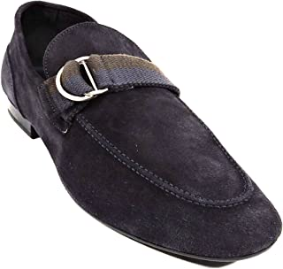 Men's Blue Soft Suede Loafers