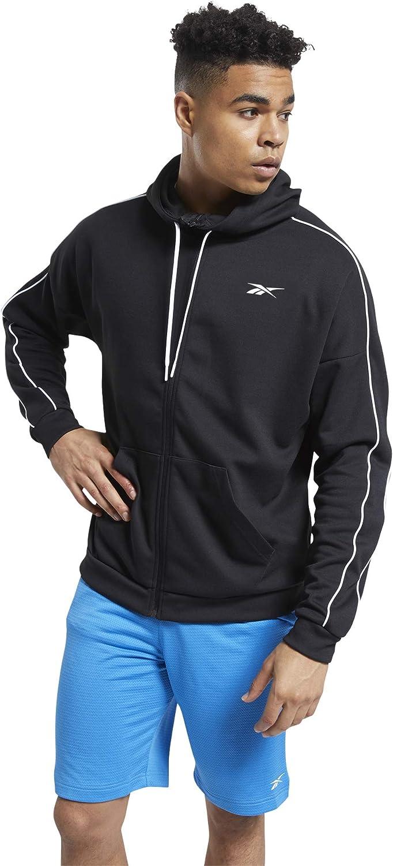 Reebok Very popular Men's Workout Recommended Ready Full Hoodie Doubleknit Zip