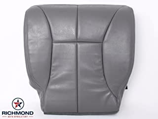 Richmond Auto Upholstery 1998 Dodge Ram 1500 SLT Laramie Driver Side Bottom Replacement Leather Seat Cover, Gray