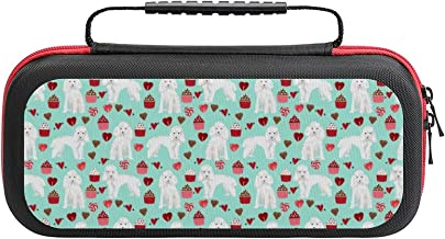Toy Poodle White Valentines Day Cupcakes Dog Mint Case Compatible with Switch Case Protective Carry Bag Hard Shell Storage... photo