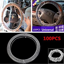 Set (100pcs) Car Steering Wheel Cover For Universal Disposable Plastic Covers