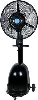 Ventilador de servicio pesado Ventilador de enfriamiento oscilante potente Ventilador de nebulización humidificador industrial/silencioso/apto para taller, almacén (negro)