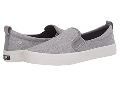 Sperry Crest Twin Gore Sparkle Linen Sneaker (Grey) Women