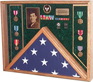military flag case with shell casings