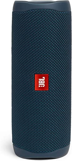 JBL Flip 5 by Harman Bluetooth Speaker with Upto 12 Hours Playtime, IPX7 Waterproof & PartyBoost (Without Mic, Blue)