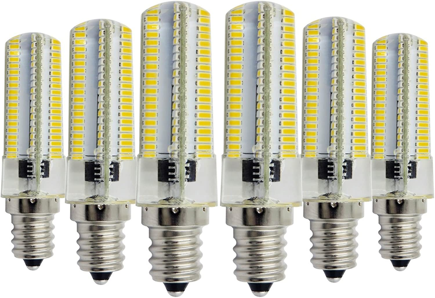 LL 110V 6 Watts E14 Dimmable 3014 SMD LED Light Warm White Cool White 40W50W Halogen Replacement Ceiling Lamp Light in Living Room Kitchen Bath Room (Pack of 6) (Size   Cold White)