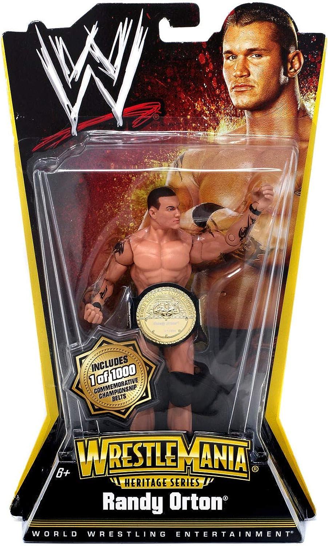 hasta un 70% de descuento RANDY ORTON  WWE WWE WWE WrestleMania Heritage Series 1 1000 Commemorative Championship Belts Chase Variant Acción Figura by Mattel  100% a estrenar con calidad original.