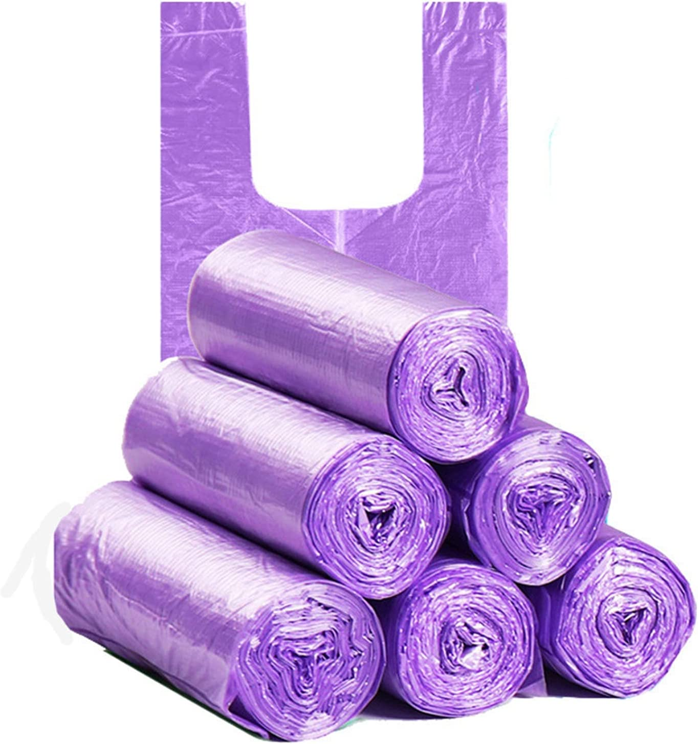 ZHENZEN 100PCS 5 Rolls Trash Bags Black Green Purple Thicke Super Special SALE Online limited product held Blue