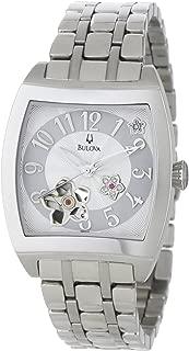 Women's 96P119 BVA Series Floral Aperture Dial Watch