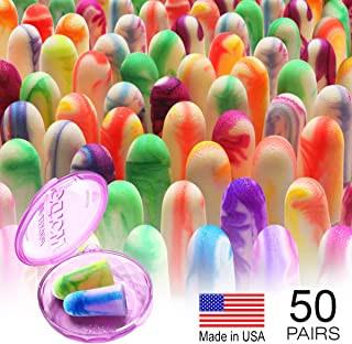 MOLDEX Sparkplugs Soft Foam Ear Plugs 50 Pairs Earplugs - 33dB Highest NRR Made in USA