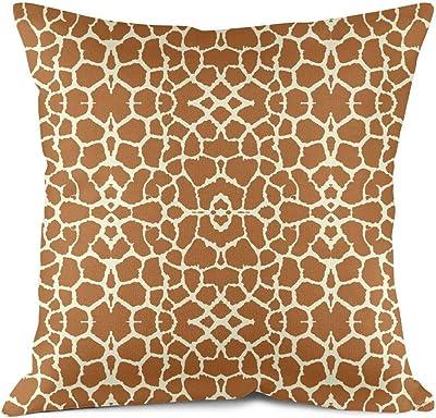The Pillow Collection Lameez Geometric Cinnabar Down Filled Throw Pillow