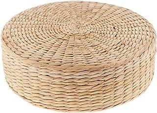 PETSOLA わら 座禅布団 坐禅用のふとん 坐布 座蒲 坐蒲 座禅専用の座布団 全3サイズ - 30×30×10cm
