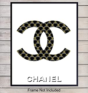 Chanel Logo Wall Art, Home Decor - Contemporary Poster, Print - - Gift for Woman, Fashion, Designer, Fashionista, Coco Fans - Unique Room Decorations for Bedroom, Teens, Girls Room - 8x10 Photo