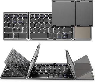 Jekeno キーボード Bluetooth 折りたたみ式 タッチパッド搭載 薄型 コンパクト 省エネ ワイヤレス キーボード スマホ タブレット用 キーボード ミニ軽量 英文us配列 64機能キー Android/Windows/Mac/i...
