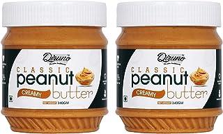 Diruno® 100% Classic Peanut Butter Creamy 340gm (Gluten Free, Non-GMO) Pack of 2