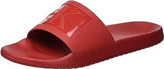 CK Jeans Men's Vincenzo Jelly Slide Sandal, Dark red, 9 M US