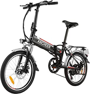 ANCHEER Folding Electric Bike Commute Ebike, 20'' Electric City Bicycle with 36V 8Ah Removable Battery, with Shock Absorbe...