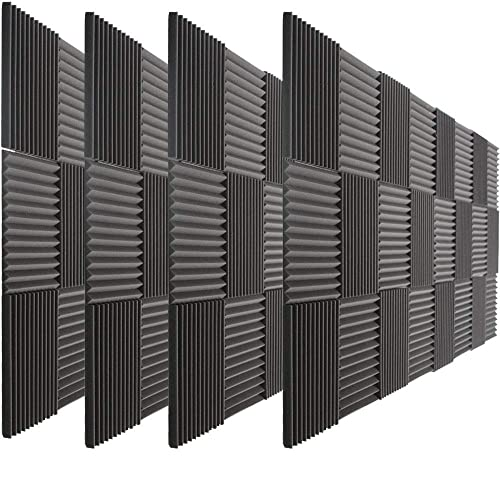 "96 Pack Acoustic Panels Studio Foam Wedges 1"" X 12"" X 12"""