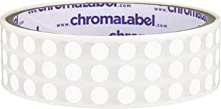 ChromaLabel 1/4 inch Color-Code Dot Labels | 1,000/Roll (White)
