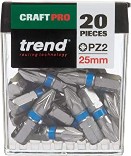Trend CR/QR/IPZ2/20 Craft Pro Quick Release 25mm Insert Bit Number 2 Pozi-CR/QR/IPZ2/20-20 Pack