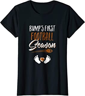 Womens Bump's First Football Season Mommy Mothers Day T-Shirt