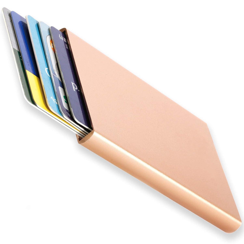 BLUE SINCERE カードケース メンズ アルミニウム クレジットカード スキミング防止 スライド式 薄型 5枚収納 CDC1