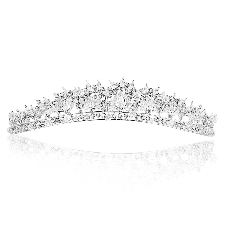 Rapid rise Stunning Bridal Sale item Rhinestone Crystal Tiara Crown Wedding Flower
