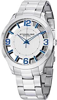 (Renewed) Stuhrling Original Analog Silver Dial Men's Watch-754.01