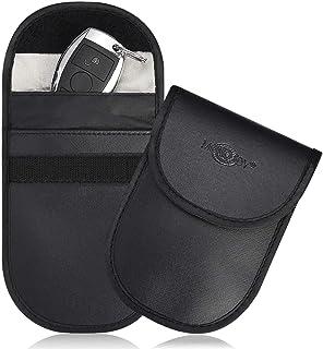 MONOJOY Faraday Bag for Car Key Fob Signal Blocking Pouch, Faraday Case for Key Fob, Fob Guard Keyless Entry Remote Rfid, ...