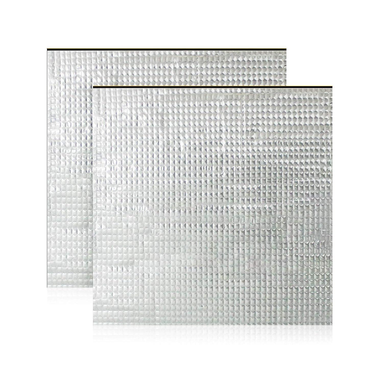 Cnloyua 2 unidades 220 * 220mm de plataforma para impresora 3D, aislamiento de cama caliente, lámina de espuma autoadhesiva, almohadilla térmica para cama caliente, menor consumo de energía