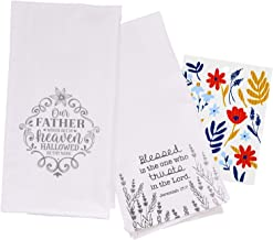 Inspirational Kitchen Dish Towels with Quotes | Trust in The Lord, Our Father Sayings Theme | Decorative Cotton Tea Towel ...