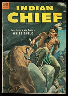 INDIAN CHIEF #12 '53-DELL COMIC-WESTERN-1ST WHITE EAGLE FN