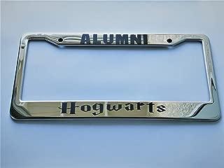 KuraSpeed Alumni Hogwarts Chrome Stainless Steel License Plate Frame w/Screw Caps