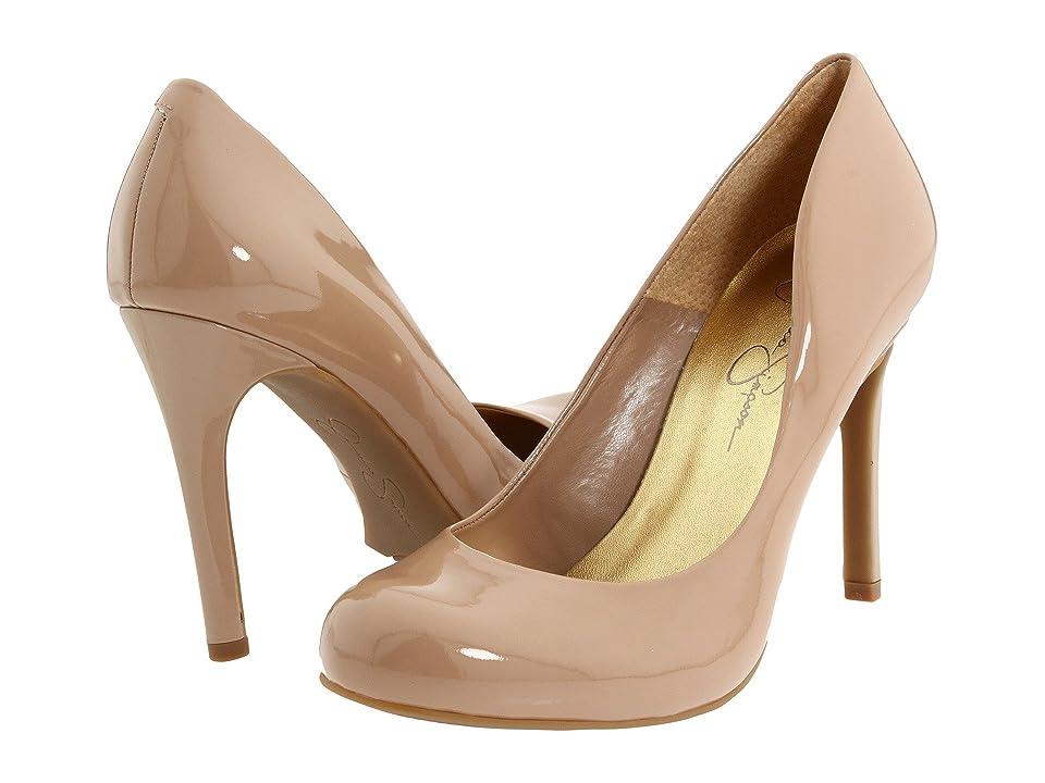 Jessica Simpson Calie (Nude Patent) High Heels