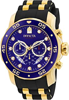 Invicta Men's Blue Dial Stainless Steel Band Watch - 6983