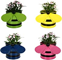 Trust Basket Trustbasket Set Of 4 - Bee Planters Green,Yellow,Blue And Pink