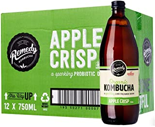 Remedy Organic Kombucha Apple Crisps, 750 ml (Pack of 12), 9 l