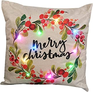 Tis The Season to Be Jolly Christmas Hat themed Linen Cushion Cover.