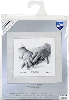 Vervaco Baby Hands Birth Record on Aida Counted Cross Stitch Kit, 8