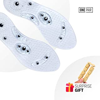 Lifeinsole Magnetic Reflexology Medical Pain Relief Washable Foot Massage Insoles Fits All Like Mindinsole (Men)