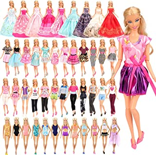 BARWA 16 Pack Doll Clothes and Accessories 5 PCS Fashion Dresses 5 Tops 5 Pants Outfits 3 PCS...