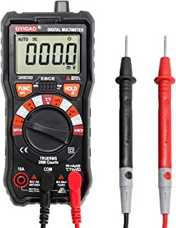 Digital Multimeter UYIGAO Auto-Ranging Digital Multimeters Electronic Measuring Instrument AC Voltage Detector Portable Amp Ohm Volt Test Meter Multi Tester Diode and Continuity Test Scanners Home Use