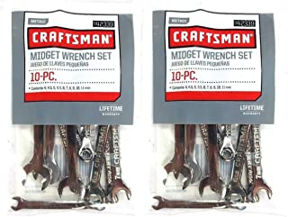 (2) New Craftsman 10 Pc Metric Mini Midget Ignition Combination Wrench Set 42339