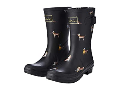 Joules Molly Welly (Black Dogs) Women