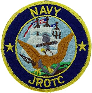 United States Navy USN Junior Reserve Officer's Training Corps JROTC Embroidered Patch, with Iron-On Adhesive