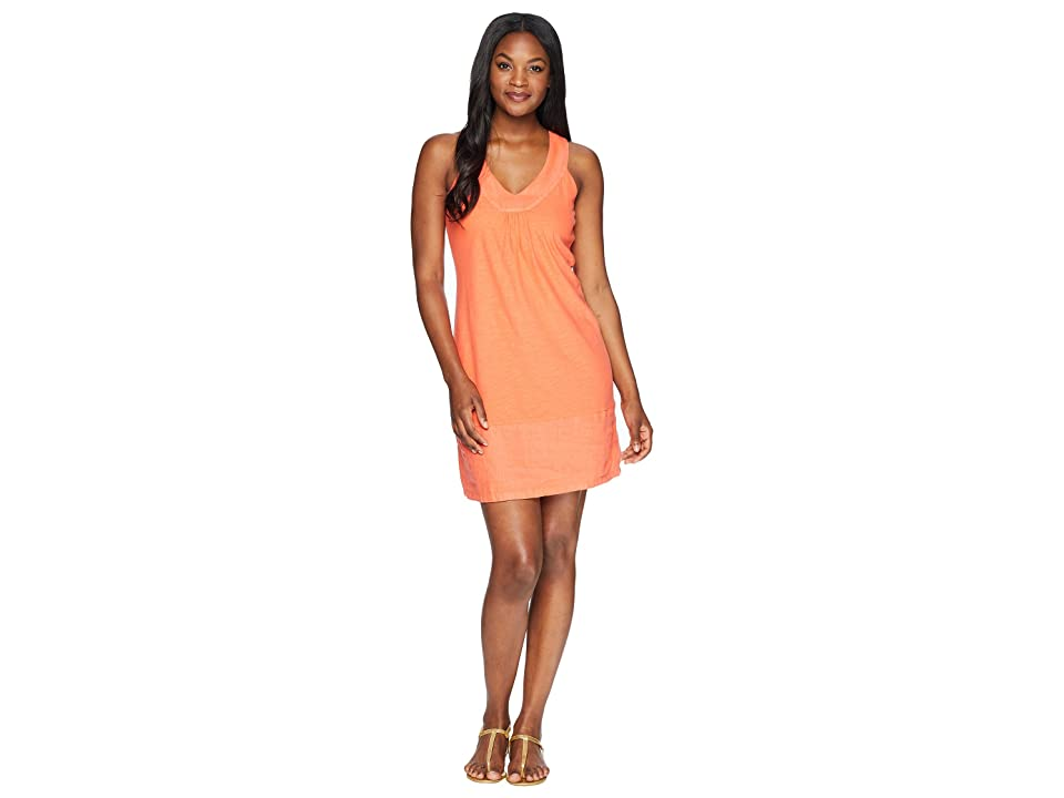Tommy Bahama Arden Sleeveless Flounce Dress (Burnt Coral) Women