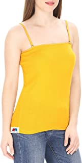 GRAPPLE DEALS Cotton Spaghetti Straps Camisole Tank Top Adjustable Starp Easy to Fit for Women.