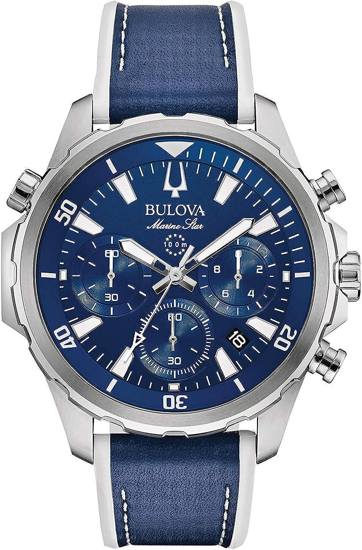 Bulova Reloj Cronógrafo para Hombre de Cuarzo con Correa en Silicona 96B287