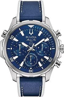 Bulova Mens Chronograph Quartz Watch with Silicone Strap 96B287